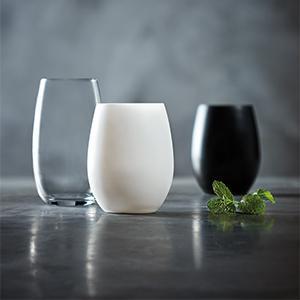 czarna szklanka - Szklanka do wody czarna 360 ml