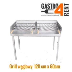 """,,Sprzedaż""""- węglowy grill  120 cm x 60 cm  składany"""