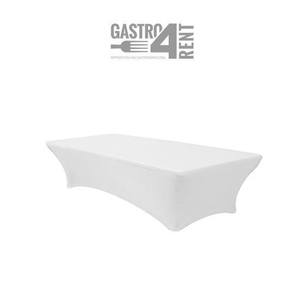 pokrowiec elastyczny na stól prostokątny 120 bialy 1 600x600 - Pokrowiec elastyczny na stół prostokątny 120 cm biały