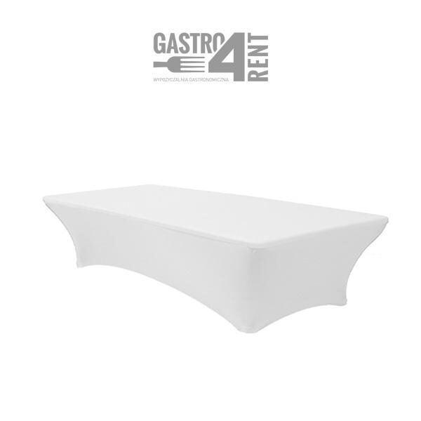 pokrowiec elastyczny na stól prostokątny 150 bialy 1 600x600 - Pokrowiec elastyczny na stół prostokątny 150 cm biały
