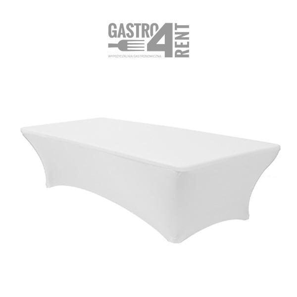 pokrowiec elastyczny na stól prostokątny 180 bialy 1 600x600 - Pokrowiec elastyczny na stół prostokątny 180 cm biały