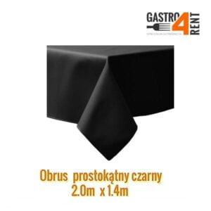 Obrus prostokątny 2,0 m x 1,40 m czarny