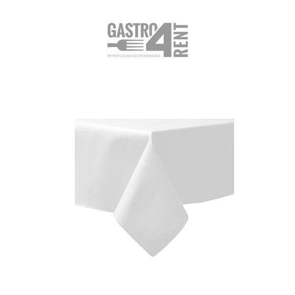 obrus kwadratowy biały 600x600 - Obrus kwadratowy 1,4m x 1,4m biały