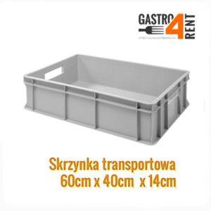 Pojemnik -skrzynka transportowa  60 cm x 40 cm x 14 cm (Kopia)