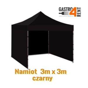 Namiot  3m x 3m Czarny garderoba