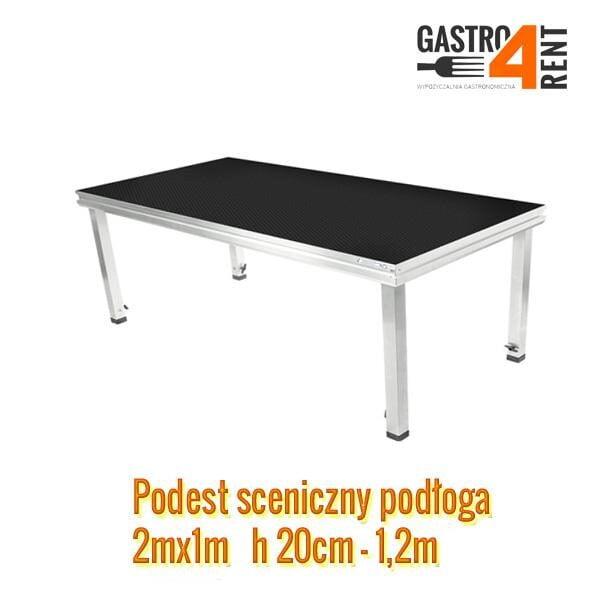 podesty sceniczne wynajem warszawa gastro4rent 600x600 - Podest sceniczny Podesty podłoga 2m x 1m