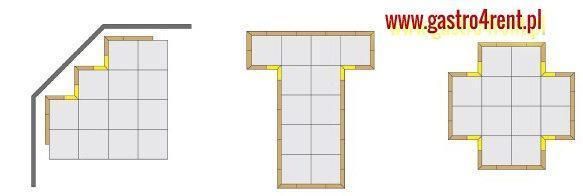 parkiet taneczny wynajem - Podłoga składana Parkiet taneczny składany