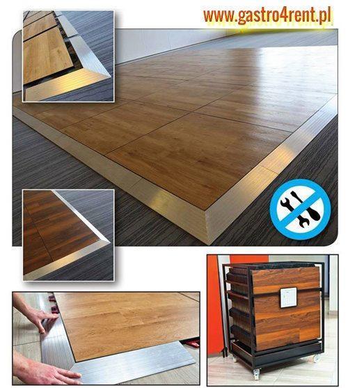 podloga taneczna parkiet wynajem - Podłoga składana Parkiet taneczny składany