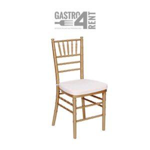 Złote krzesło   Chivari z poduszką