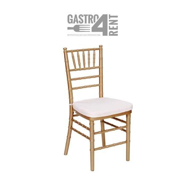 krzeslo chiaviari zlote 600x600 - Złote krzesło   Chivari z poduszką