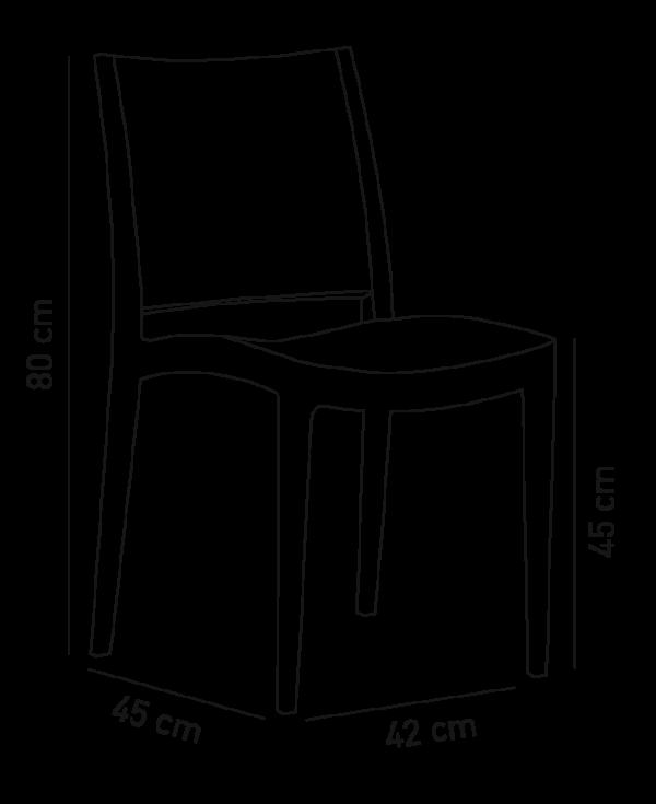 specto wymiary 600x735 - Krzesło czerwone  Specto