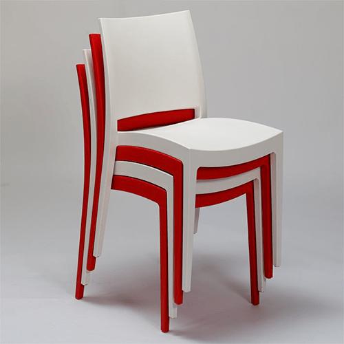 spectro krzeslo plastikowe - Krzesło czerwone  Specto
