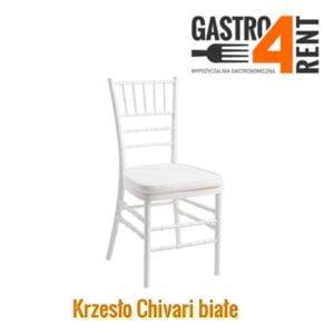 Białe  krzesło   Chivari  Napoleon