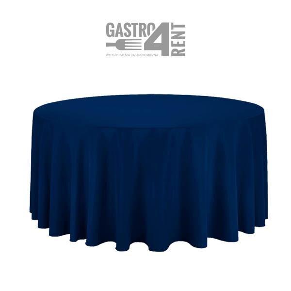 obrus 33 grantowy 600x600 - Obrus okrągły  3,2m  Granatowy Navy Blue