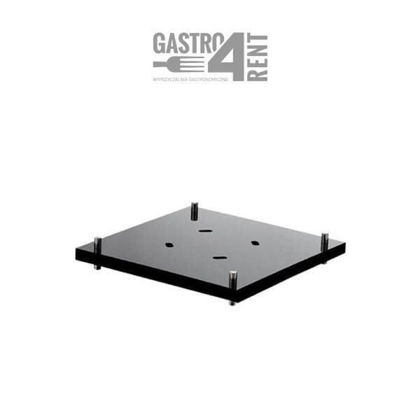 lacznik do stojakow squareline 600x600 - Łącznik do stojaków ZIEHER  24cm x 24 cm squareline Czarny
