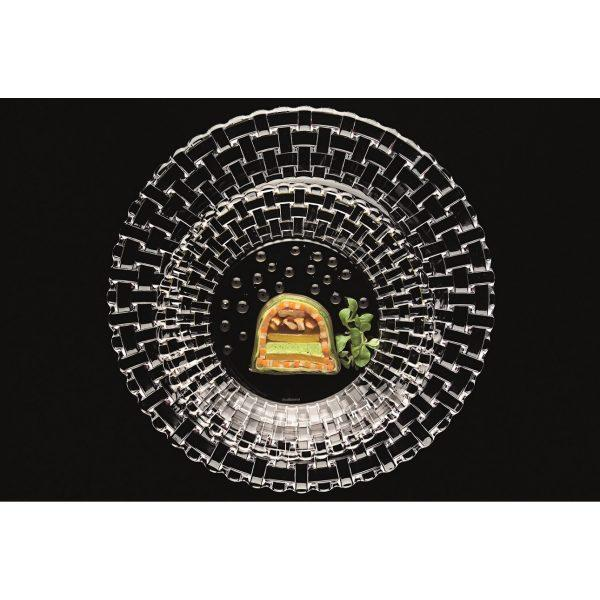pod talerz kryształowy 600x600 - Przezroczysty kryształowy podtalerz baza 32 cm Nachtmann