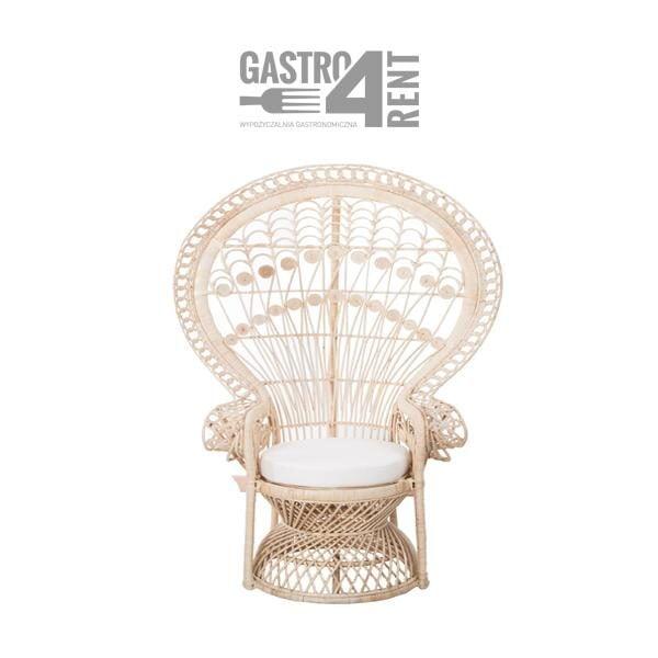 Fotel ratanowy Boho paw pawi 600x600 - Fotel  Boho Pawi +poduszka Fotel Paw