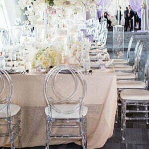 Transparentne krzesło Pheonix  ,Glamour