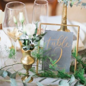 Ramki szklane (geometryczne) numerki na stoły