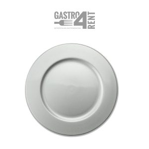 Srebrny pod talerz baza 32 cm gładki