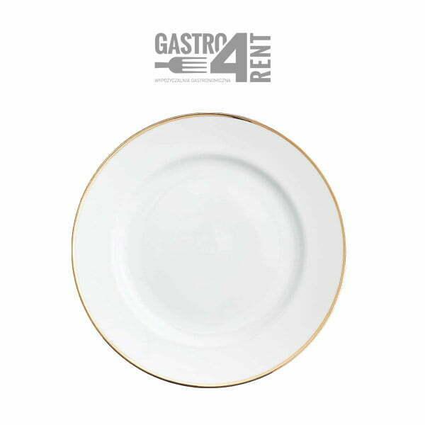 podtalerz baza zlotyrant 1 - Biały pod talerz ze złotym rantem 31cm