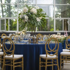 Krzesło weselne Phoenix złote +poduszka glam