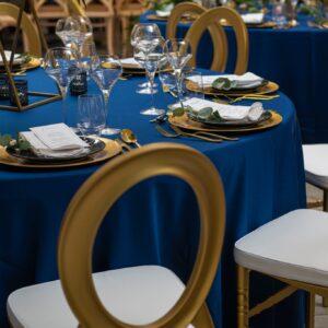 Krzesło weselne O-back złote +poduszka