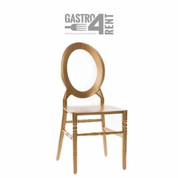 glam - Krzesło weselne O-back złote +poduszka