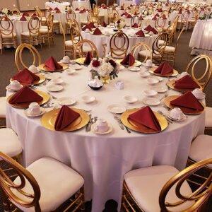 Krzesło weselne Phoenix szampańskie +poduszka