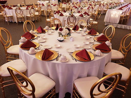 krzesla weselne - Krzesło weselne Phoenix szampańskie +poduszka