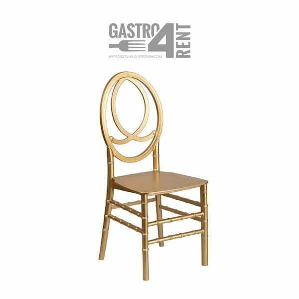 krzeslo weselne glamur - Krzesło weselne Phoenix złote +poduszka glam