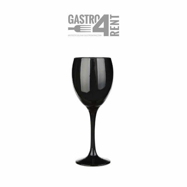 kieliszek do wina czarny szklany - Kieliszek do wina czarny 300 ml szkło